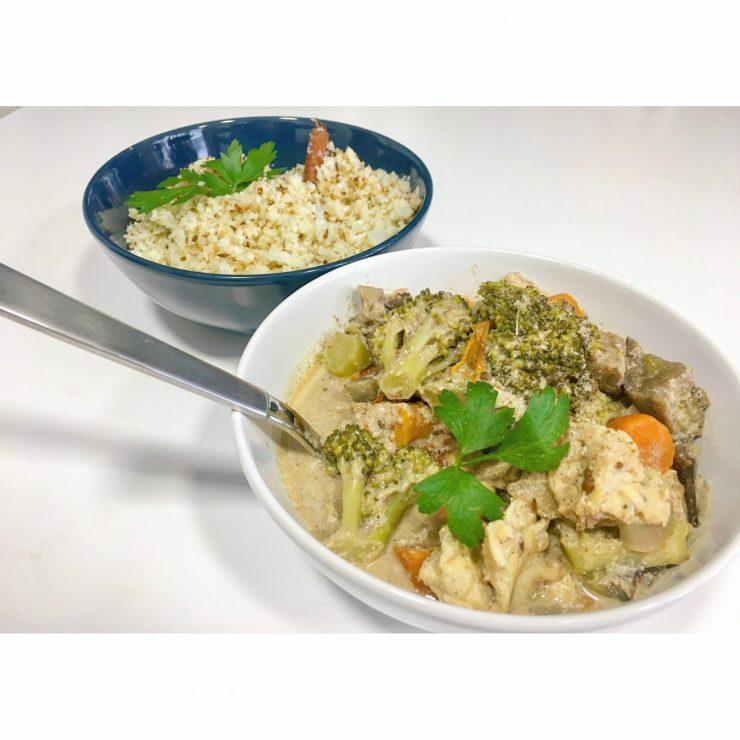 Garam Masala con arroz de coliflor