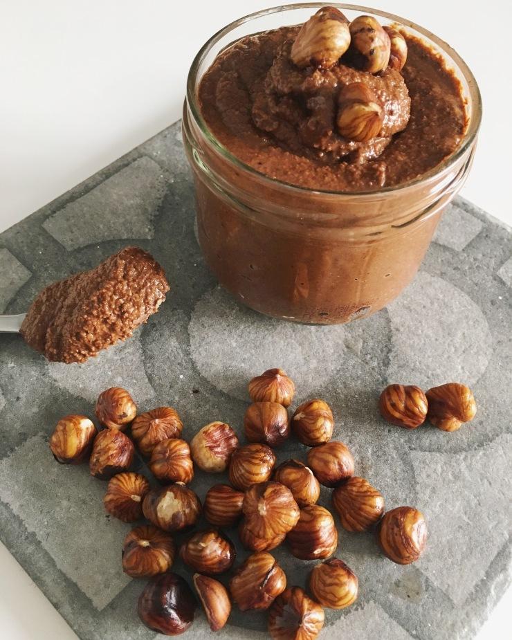 Crema de cacao y avellanas sin azúcar