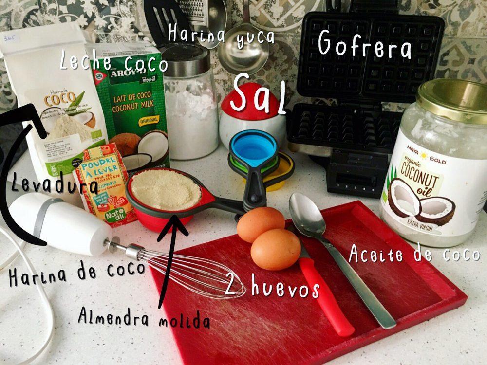 Ingredientes para Gofres