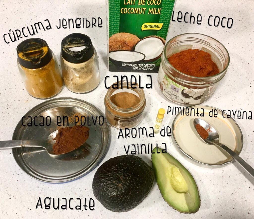 Ingredientes para Mousse de Chocolate&Avocado