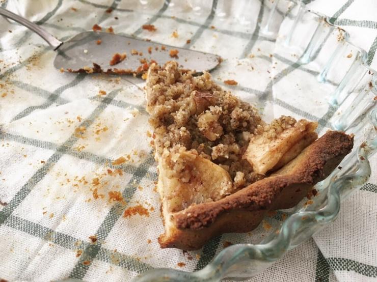 Última porción de tarta de manzana