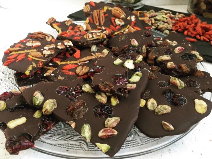 láminas de chocolate puro