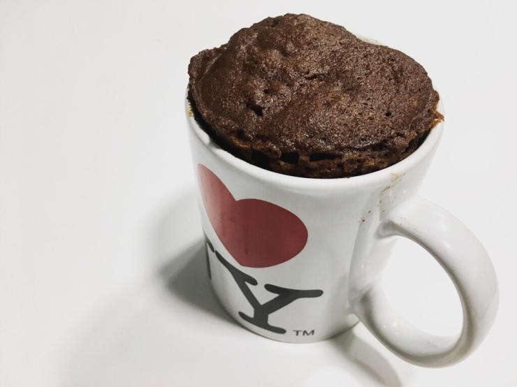 Bizcocho de chocolate a la taza