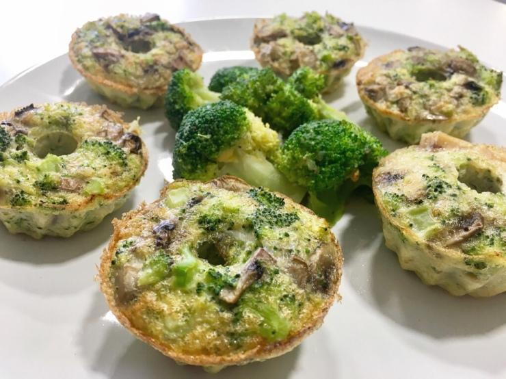 Muffins BLW , de brócoli y champiñones