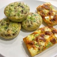 Muffins salados, huevo,  brócoli y champiñones - blw