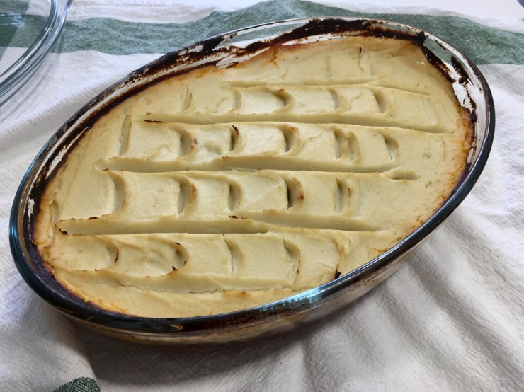 paste de coliflor sheperd's pie