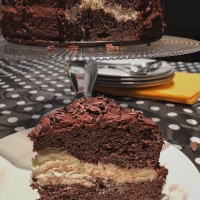 Tarta de chocolate paleo con triple cacao