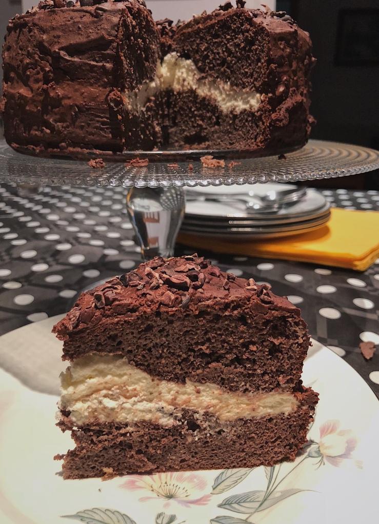 tarta chocolate paleo rellena nata