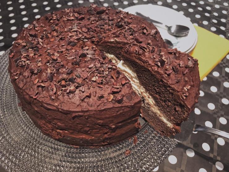 tarta cacao cumpleaños