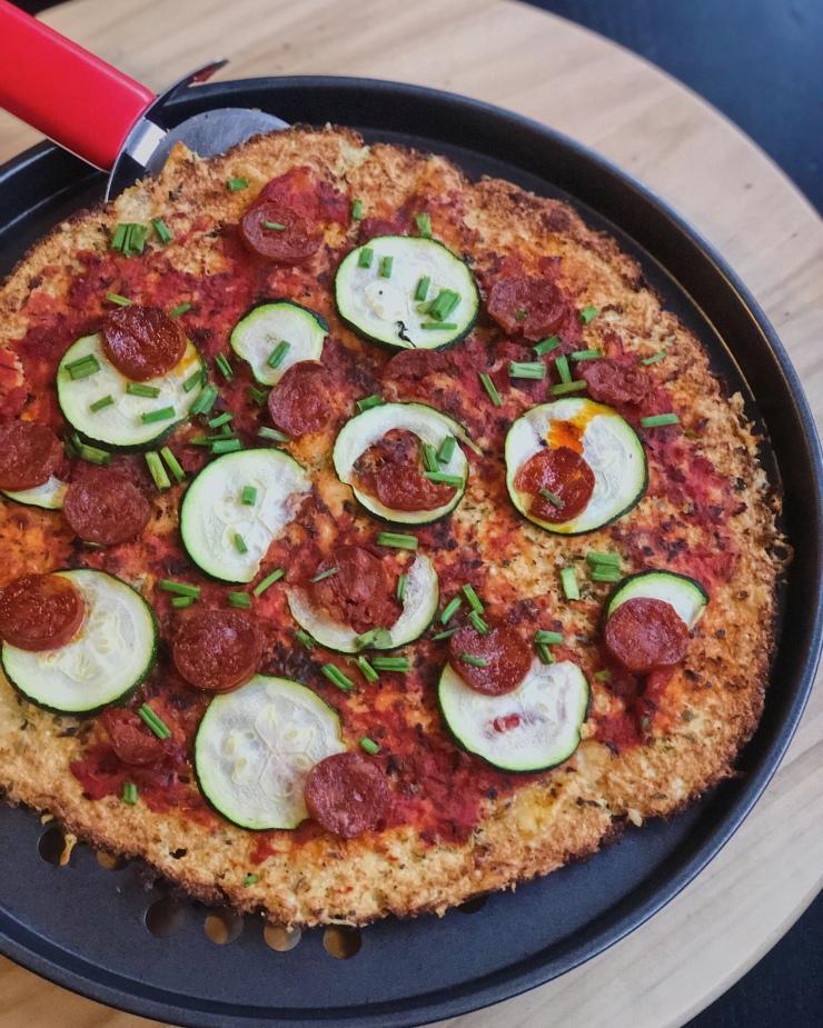 Pizza cetogénica. La excepción, no la norma.