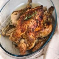 Pollo de pasto a la mostaza, asado en crockpot