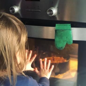 bizcocho en el horno