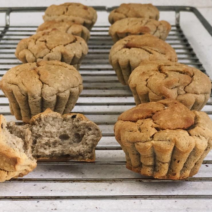 muffins de mandioca y banana