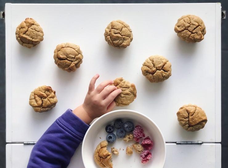 muffins de yuca y plátano