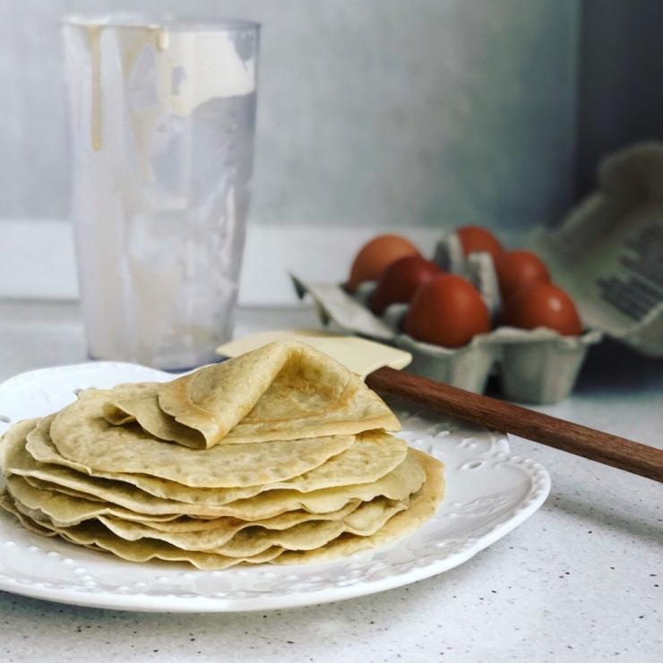 crepes sin harinas con almidón de yuca