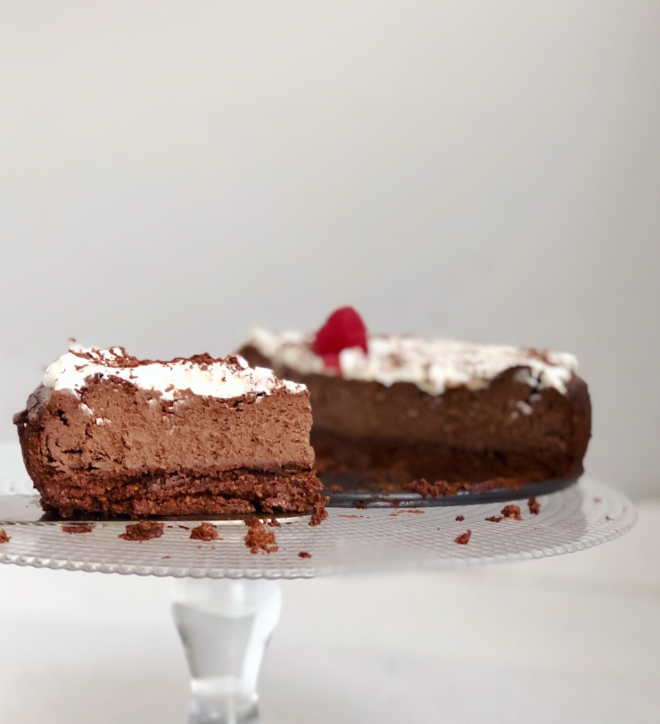 tarta keto de queso mascarpone y chocolate