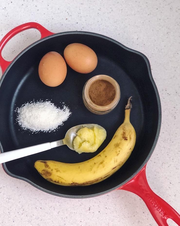 ingredientes para hacer la tortilla de plátano
