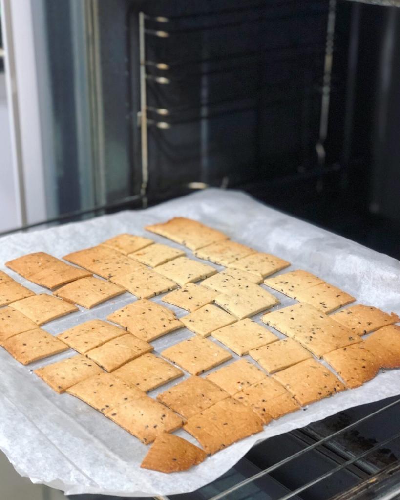 Crackers sin gluten de almendra