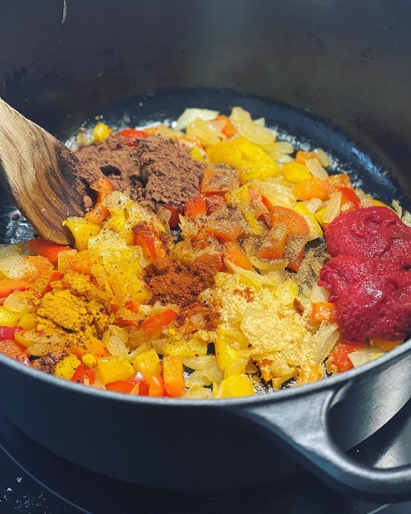 Especias para el chile con carne